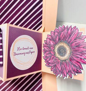 Pop up Panel-Karte mit Sonnenblume