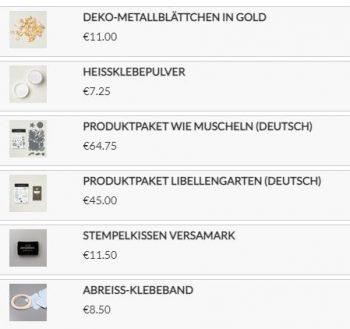 Stampin`Up! Produkte