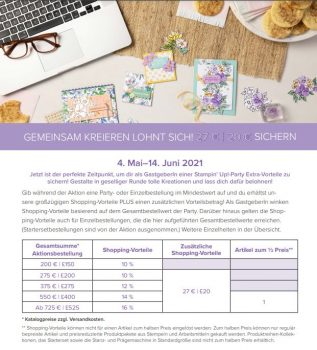 Stampin`Up! Shoppingvorteil