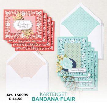 Kartenset Bandana-Flair