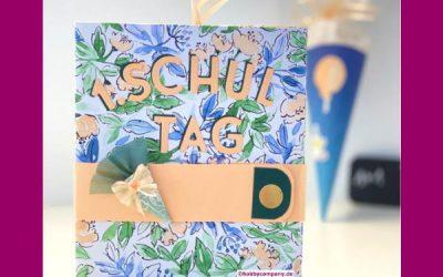 Einfaches Mini-Scrapbook zur Einschulung