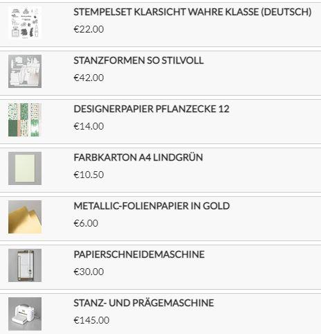 Stampin Up Produkte für die Verpackung