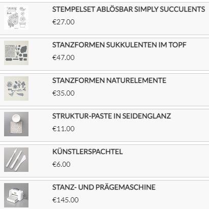 Stampin Up Produkte