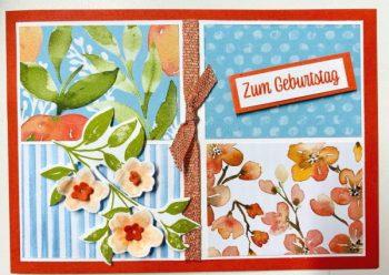Designerpapier Pfirsichzeit von Stampin`Up!