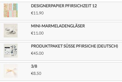 Designerpapier Pfirsichzeit von Stampin up
