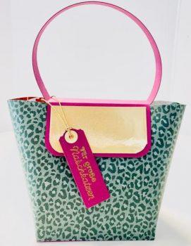 Geschenkverpackung Leoparden-Tasche basteln