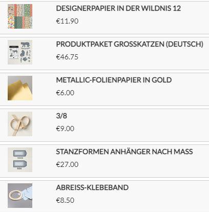 Stampin`Up! Produkte für die Geschenktasche