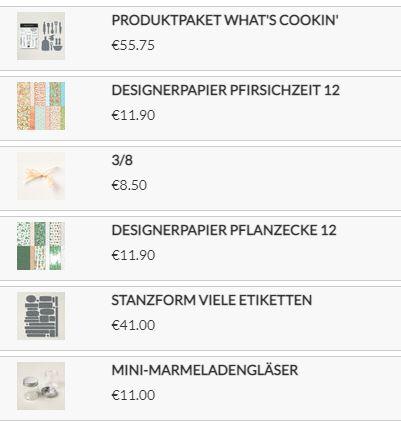 Stampin Up Produkte die ich verwendet habe