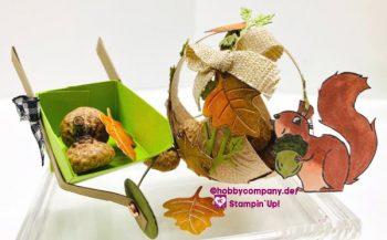 Bezaubernder Mini-Korb als Herbstdeko DIY