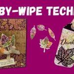 Karten mit Stempeltechnik Baby Wipe